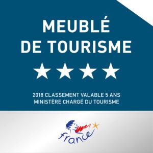 Classifié Meublé de Tourisme 4 étoiles
